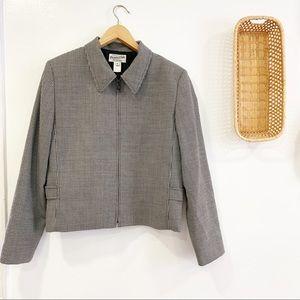 Vintage Pendleton Blazer Herringbone Zip Up Jacket